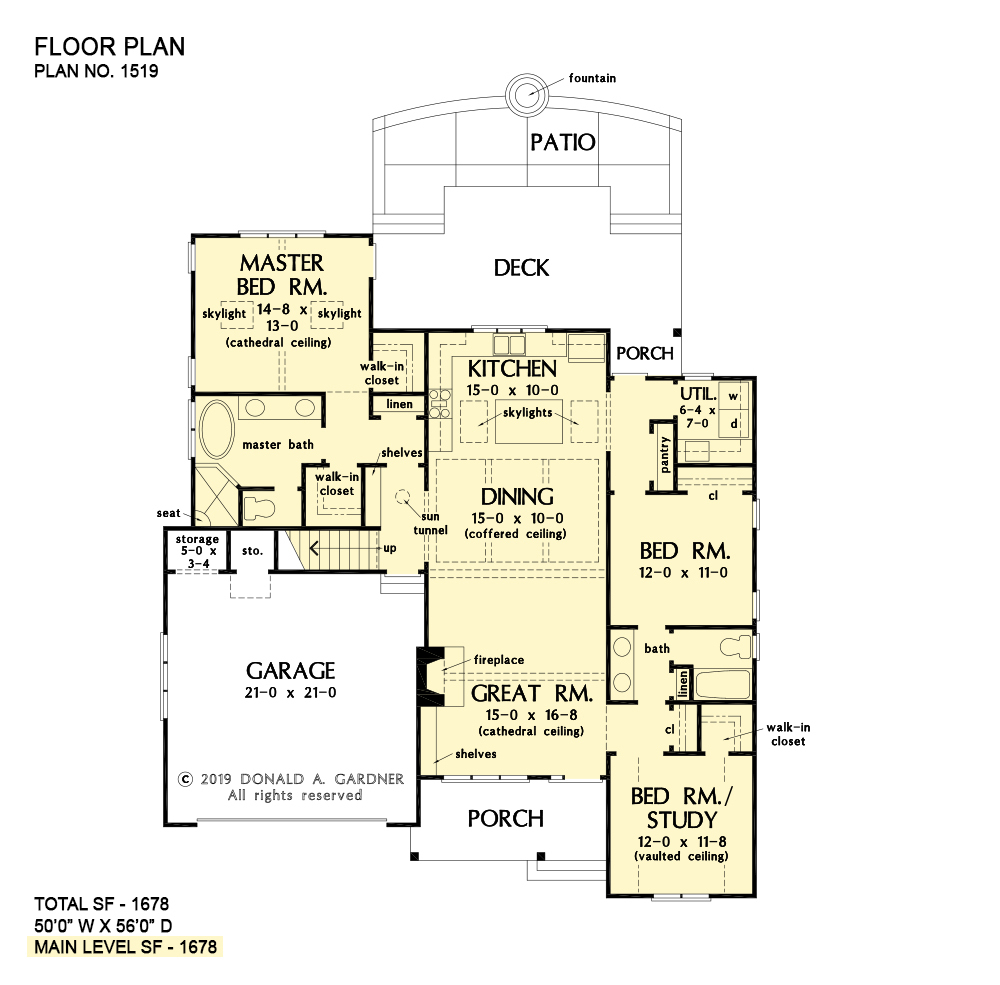 Simple Home Plans | Narrow Lot House Plans | One Story