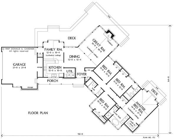 107597 House Plan The Guilford Ii By Donald A Gardner Architects On How Much Does An